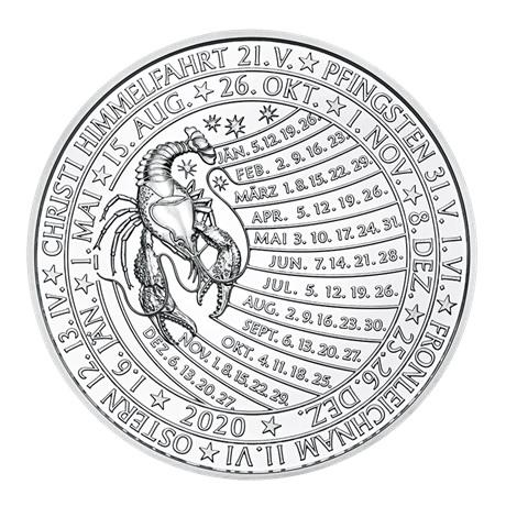 (MED01.Méd.MünzeÖ.2020.Ag.24701) Médaille argent - Calendrier 2020 Revers
