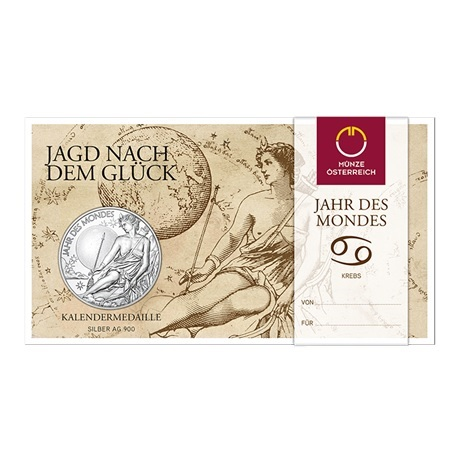 (MED01.Méd.MünzeÖ.2020.Ag.24701) Médaille argent - Calendrier 2020 (packaging)