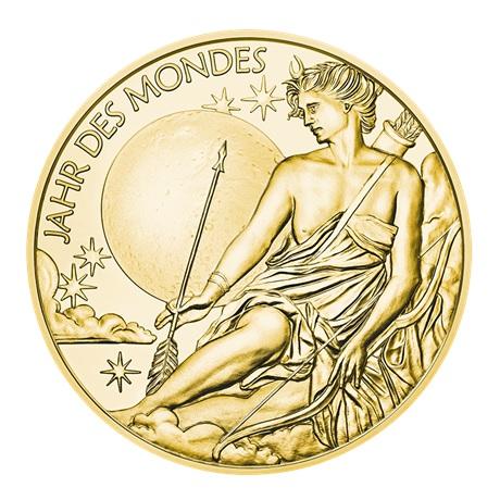 (MED01.Méd.MünzeÖ.2020.Au.plated.Ag.24702) Médaille vermeil - Calendrier 2020 Avers