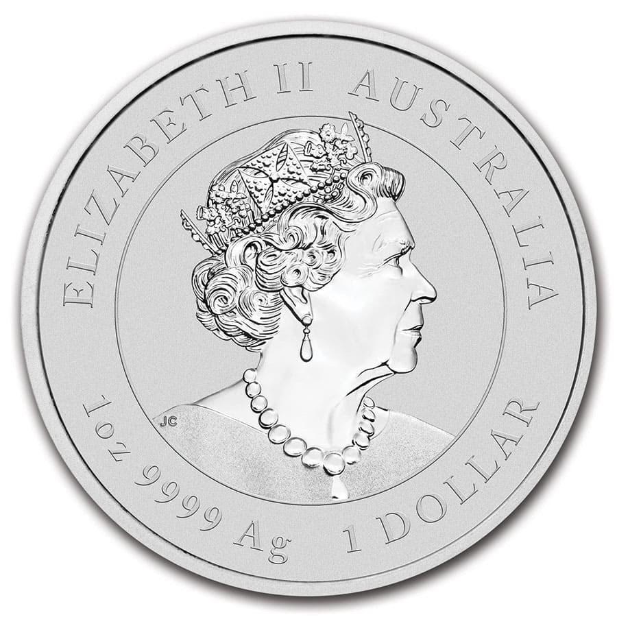 (W017.100.2020.1.ag.bullco.1) 1 Dollar Australia 2020 1 oz silver - Year of the Rat Obverse (zoom)