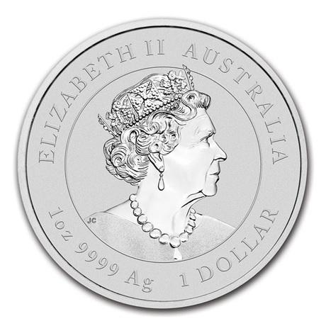 (W017.100.2020.1.ag.bullco.1) 1 Dollar Australie 2020 1 once argent - Année du Rat Avers