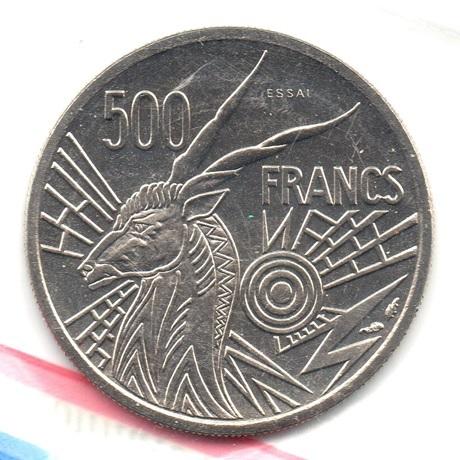 (W067.50000.1976_A.essai.000000001) Essai 500 Francs Antilope 1976 A Revers
