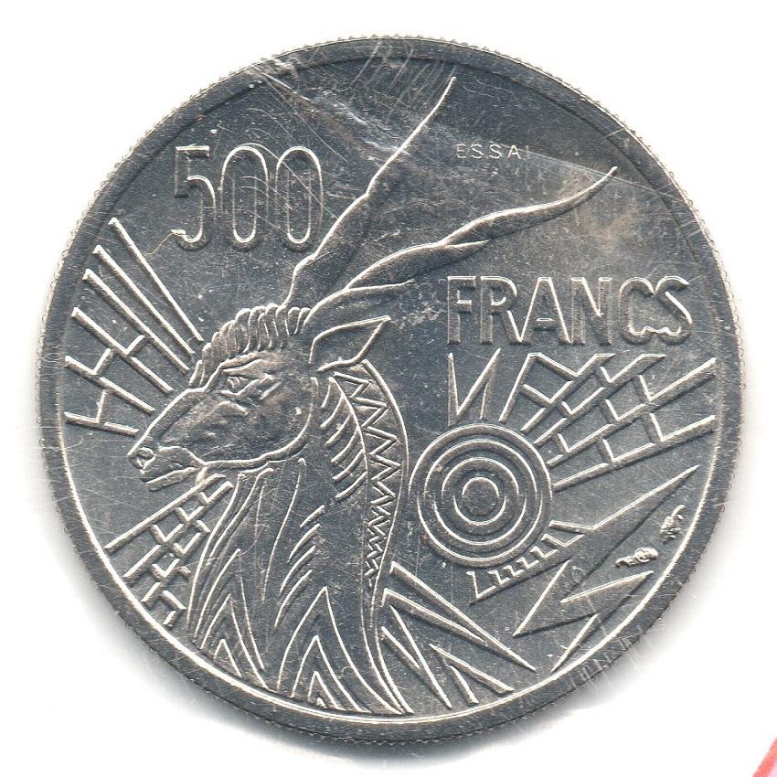 (W067.50000.1976_B.essai.000000001) Essai 500 Francs Giant eland 1976 B Reverse (zoom)