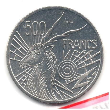 (W067.50000.1976_C.essai.000000001) Essai 500 Francs Antilope 1976 C Revers