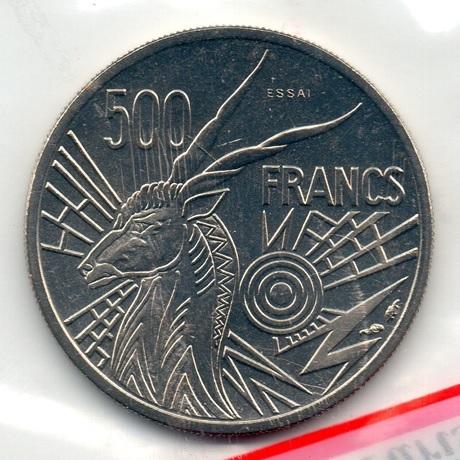 (W067.50000.1976_C.essai.000000001) Essai 500 Francs Antilope 1976 C (verso pochette)