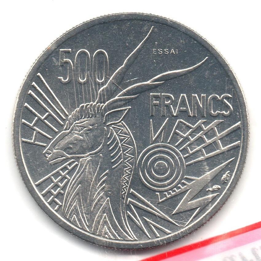 (W067.50000.1976_C.essai.000000001) Essai 500 Francs Giant eland 1976 C Reverse (zoom)