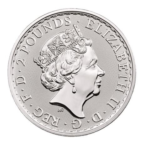 (W185.200.2020.1.ag.bullco.1) 2 Pounds Royaume-Uni 2020 1 once argent - Britannia Avers