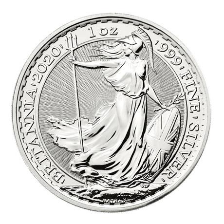 (W185.200.2020.1.ag.bullco.1) 2 Pounds Royaume-Uni 2020 1 once argent - Britannia Revers
