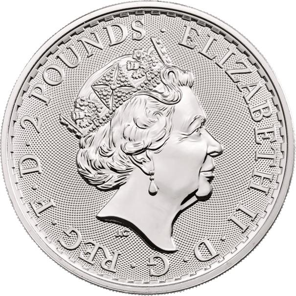 (W185.200.2020.1.ag.bullco.1) 2 Pounds United Kingdom 2020 1 oz silver - Britannia Obverse (zoom)