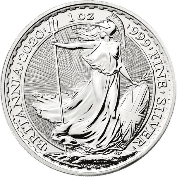 (W185.200.2020.1.ag.bullco.1) 2 Pounds United Kingdom 2020 1 oz silver - Britannia Reverse (zoom)