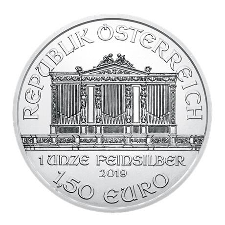 (EUR01.150.2019.1.ag.bullco.24866) 1,50 euro Autriche 2019 1 once argent - Philharmonique Avers