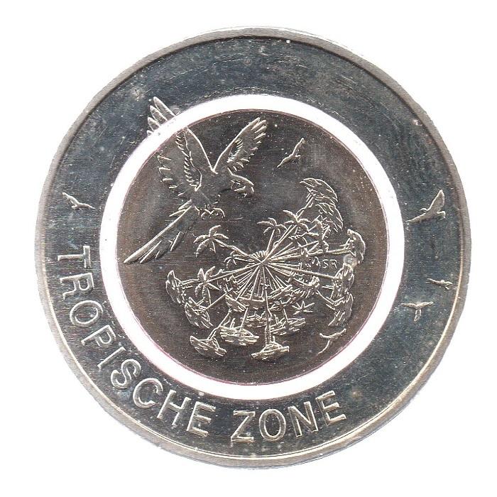 (EUR03.500.2017_J.COM1.sup.000000001) 5 euro Germany 2017 J - Tropical zone Reverse (lit polymer) (zoom)