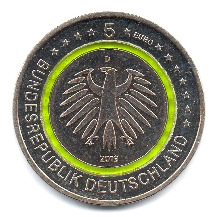 (EUR03.500.2019_D.COM1.sup.000000001) 5 euro Germany 2019 D - Temperate zone Obverse (zoom)