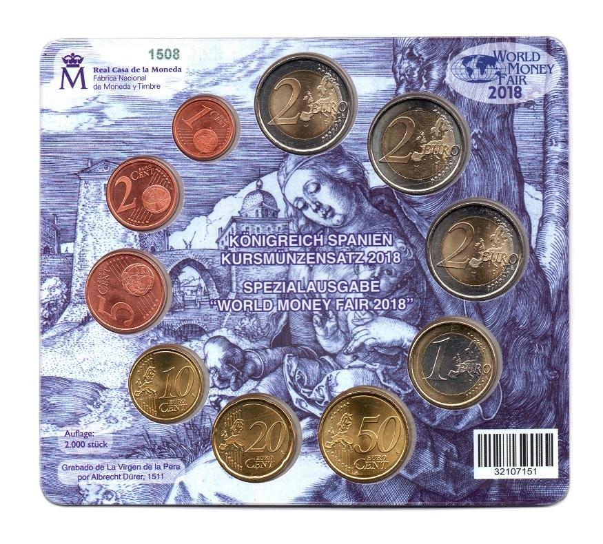 (EUR05.CofBU&FDC.2018.M-S1.1508) BU mini-set Spain 2018 - Berlin World Money Fair Back (zoom)