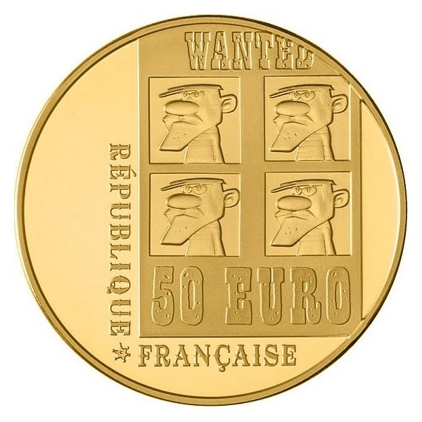 (EUR07.ComBU&BE.2009.5000.BE.COM17) 50 euro France 2009 Proof gold - Lucky Luke Obverse (zoom)