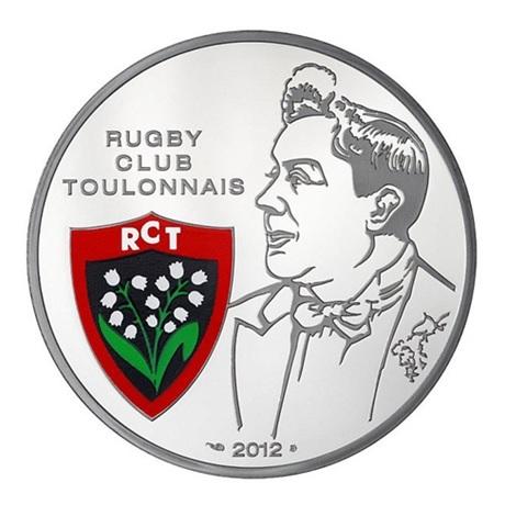 (EUR07.ComBU&BE.2012.1000.BE.COM17) 10 euro France 2012 argent BE - Rugby Club Toulonnais Avers