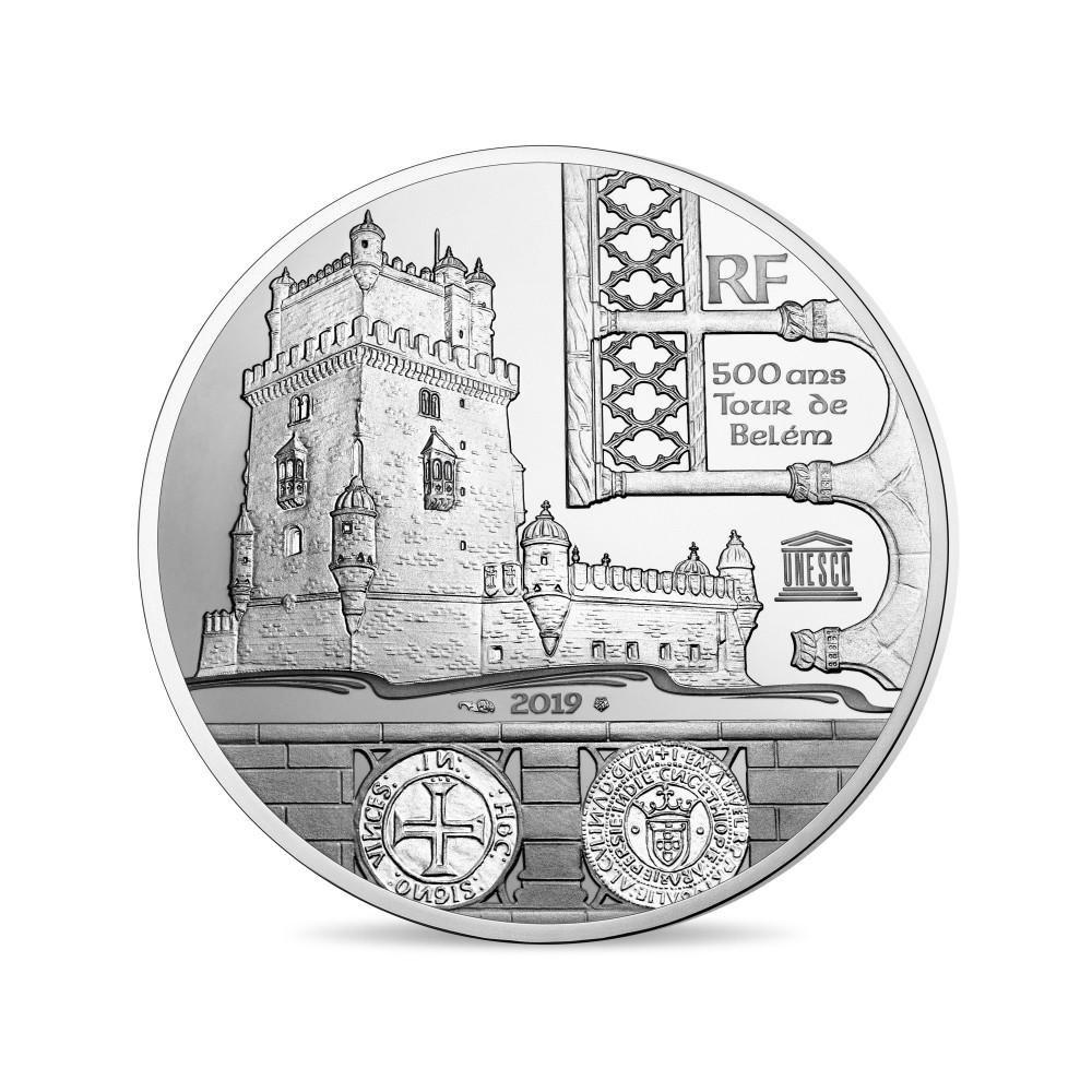 (EUR07.ComBU&BE.2019.10041329420000) 10 euro France 2019 Proof silver - Belem Tower Obverse (zoom)