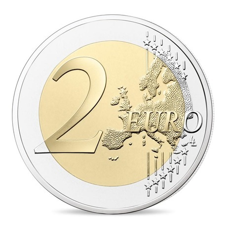 (EUR07.ComBU&BE.2019.200.BU.10041330020000) 2 euro commémorative France 2019 BU - Mur de Berlin Revers