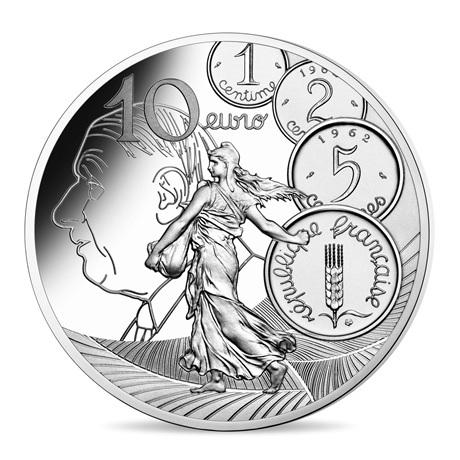 (EUR07.ComBU&BE.2020.1000.BE.10041343910000) 10 euro France 2020 argent BE - Semeuse Revers