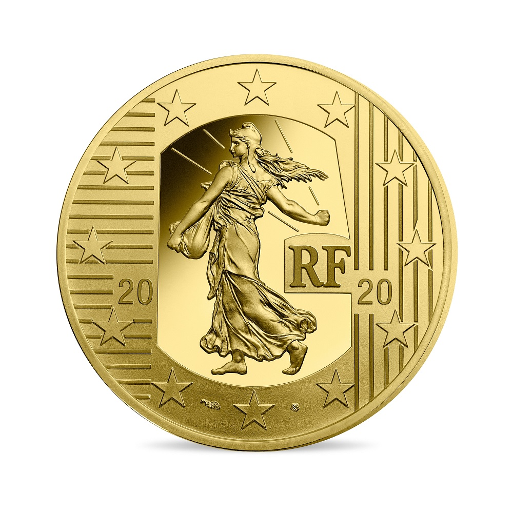 (EUR07.ComBU&BE.2020.10000.BE.10041343890000) 100 euro France 2020 Proof gold - Sower Obverse (zoom)