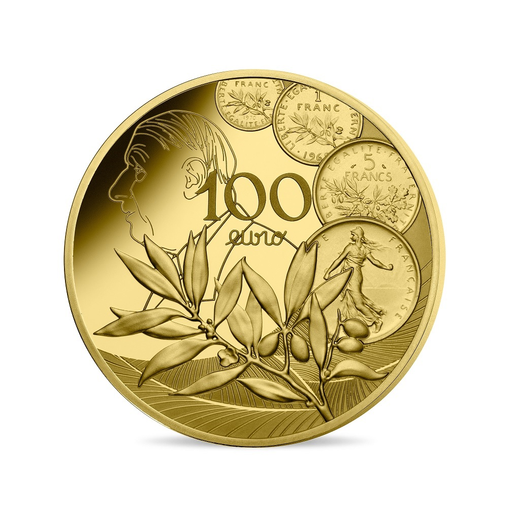(EUR07.ComBU&BE.2020.10000.BE.10041343890000) 100 euro France 2020 Proof gold - Sower Reverse (zoom)