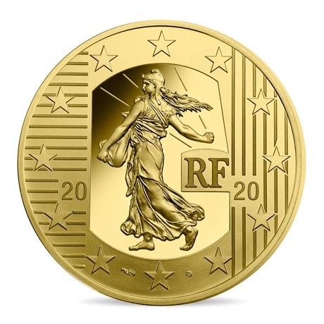 (EUR07.ComBU&BE.2020.10000.BE.10041343890000) 100 euro France 2020 or BE - Semeuse Avers