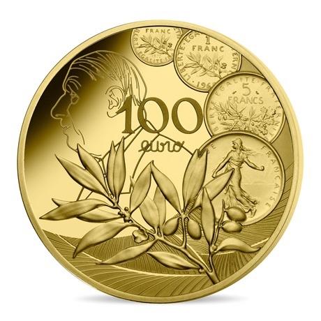 (EUR07.ComBU&BE.2020.10000.BE.10041343890000) 100 euro France 2020 or BE - Semeuse Revers