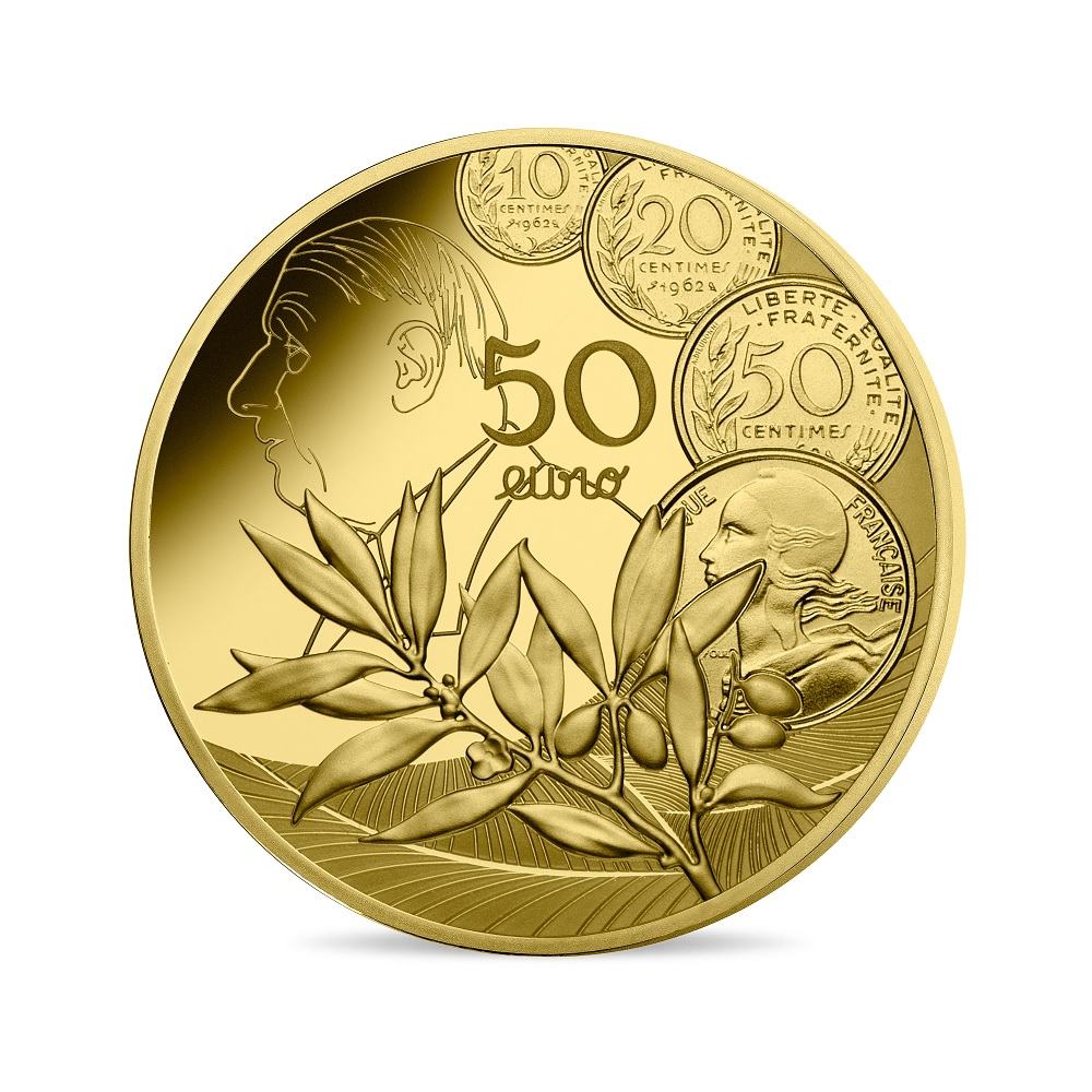 (EUR07.ComBU&BE.2020.5000.BE.10041343900000) 50 euro France 2020 Proof gold - Sower Reverse (zoom)