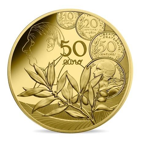 (EUR07.ComBU&BE.2020.5000.BE.10041343900000) 50 euro France 2020 or BE - Semeuse Revers
