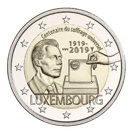 (EUR11.200.2019.COM1.spl) 2 euro commémorative Luxembourg 2019 - Droit de vote Avers