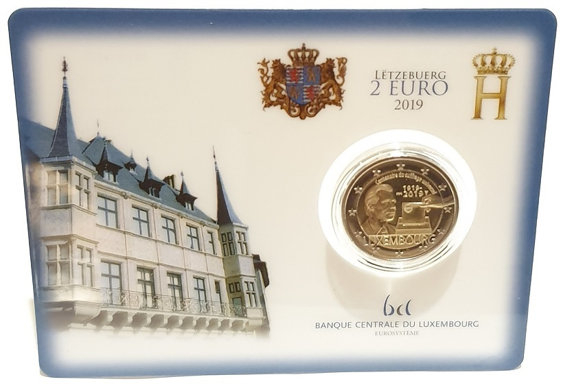 (EUR11.ComBU&BE.2019.200.BU.COM1.7151) 2 euro Luxembourg 2019 BU - Voting right Front (zoom)