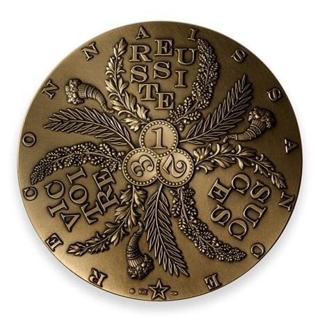 (FMED.Méd.MdP.n.d._2020_.CuZn.100113351100P0) Médaille bronze florentin - Réussite Avers