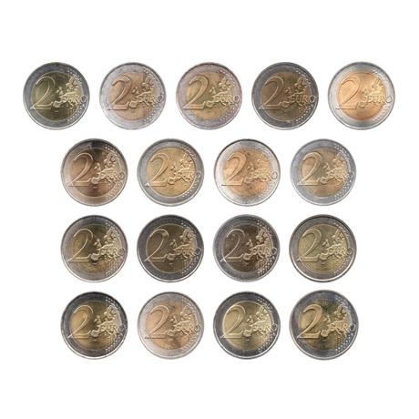 (LOT.134.200.2007.1.sup.à.spl.000000001) 2 euro commémoratives 2007 - Traité de Rome (série des 17 pièces) Revers