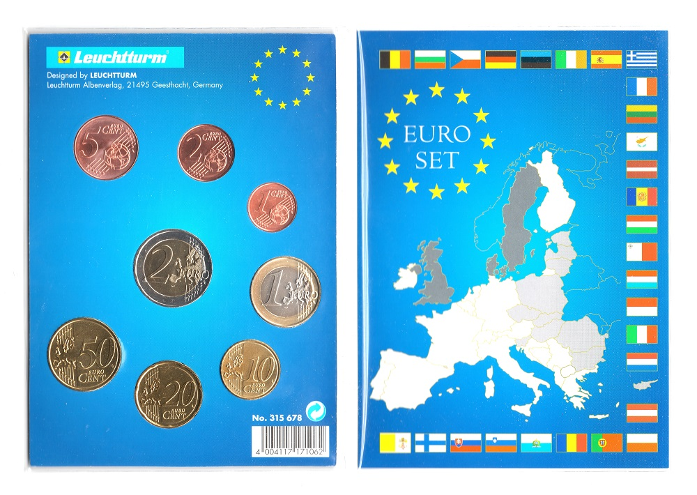(LOT.EUR04.001to200.2019.2.spl.000000001) Complete series from 1 cent to 2 euro Cyprus 2019 Reverses (zoom)