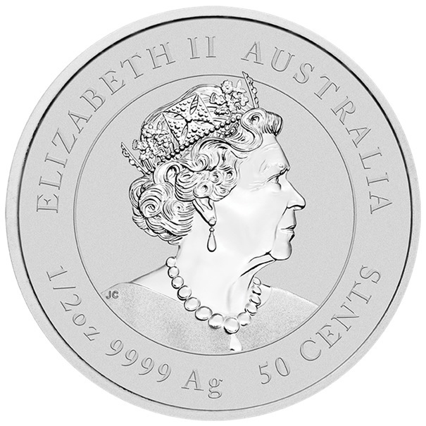 (W017.050.2020.0,5.ag.bullco.1) 50 Cents Australia 2020 0.50 oz silver - Year of the Rat Obverse (zoom)