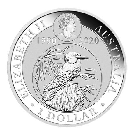 (W017.100.2020.1.ag.bullco.3) 1 Dollar Australie 2020 1 once argent - Kookaburra Avers
