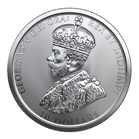 (W037.1000.2020.2.ag.bullco.1) 10 dollars Canada 2020 2 onces argent - Police montée Revers
