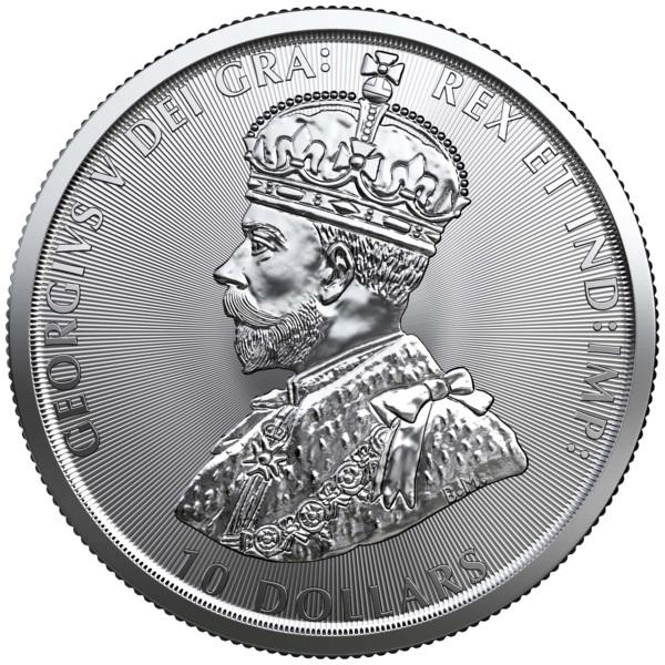 (W037.1000.2020.2.ag.bullco.1) 10 dollars Canada 2020 2 oz silver - Mounted police Reverse (zoom)