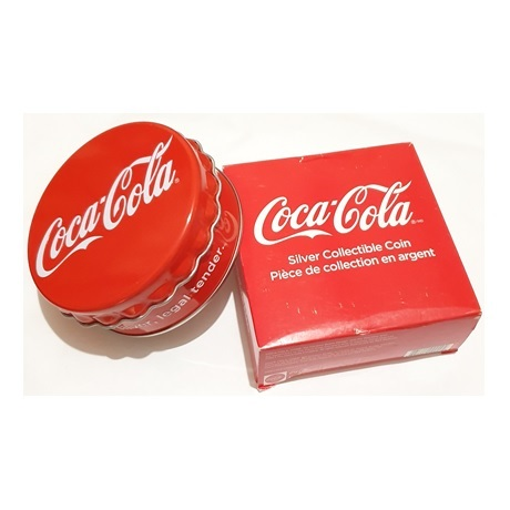 (W073.100.2018.6.g.ag.bullco.1.0014779) 1 dollar Fidji 2018 6 grammes argent BE - Coca-Cola (packaging)