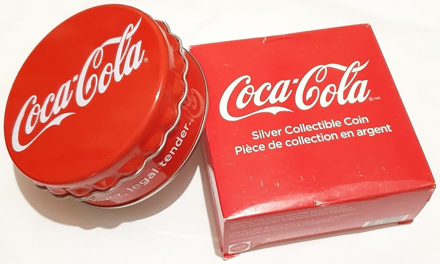 (W073.100.2018.6.g.ag.bullco.1.0014779) 1 dollar Fiji 2018 6 grams Proof silver - Coca-Cola (packaging) (zoom)