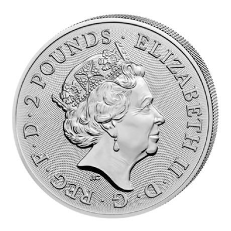 (W185.200.2020.1.ag.bullco.2) 2 Pounds Royaume-Uni 2020 1 once argent - Année du Rat Avers