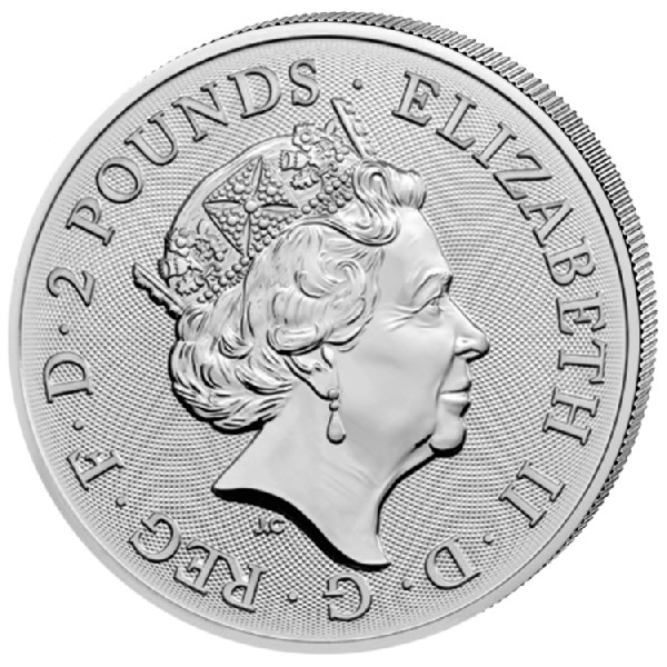 (W185.200.2020.1.ag.bullco.2) 2 Pounds United Kingdom 2020 1 oz silver - Year of the Rat Obverse (zoom)