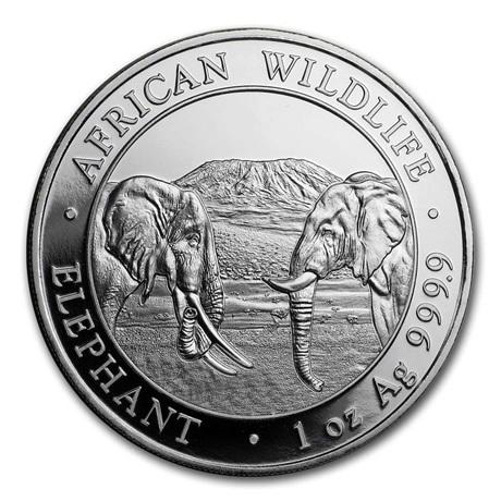 (W203.10000.2020.1.ag.bullco.1) 100 Shillings Somalie 2020 1 once argent - Eléphant Revers