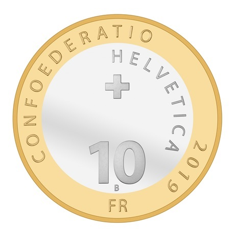 (W209.1000.2019_B.510000430) 10 Francs Chevreuil 2019 B Avers