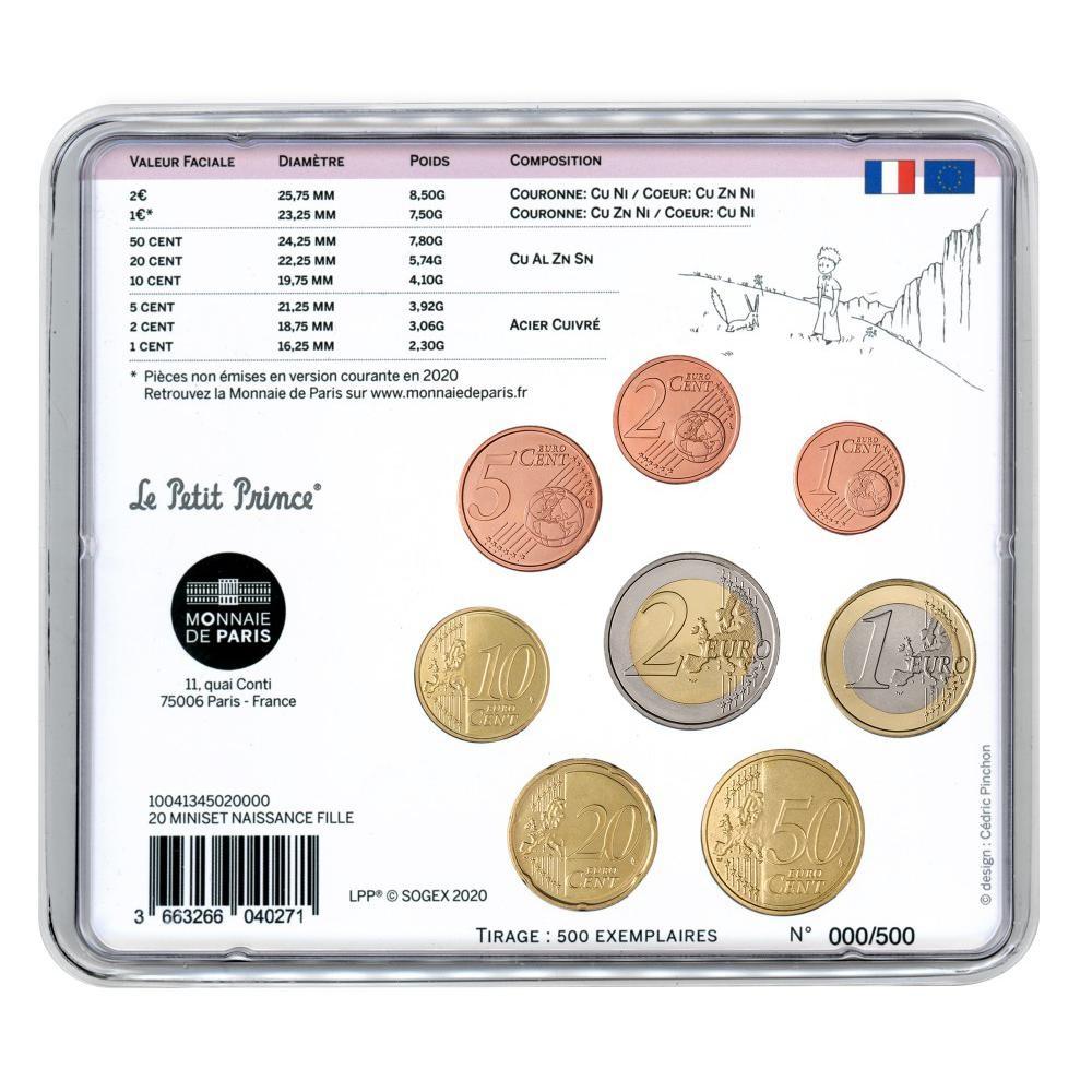 (EUR07.CofBU&FDC.2020.M-S.10041345020000) BU mini-set France 2020 - Baby birth (girl version) Back (zoom)