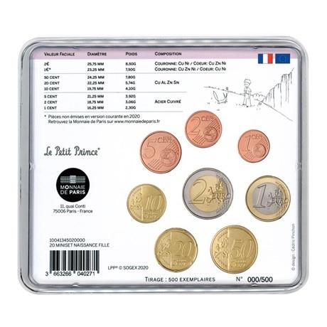 (EUR07.CofBU&FDC.2020.M-S.10041345020000) Mini-set BU France 2020 - Naissance fille Verso