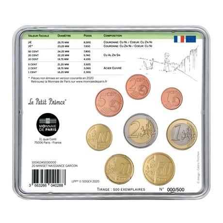 (EUR07.CofBU&FDC.2020.M-S.10041345030000) Mini-set BU France 2020 - Naissance garçon Verso