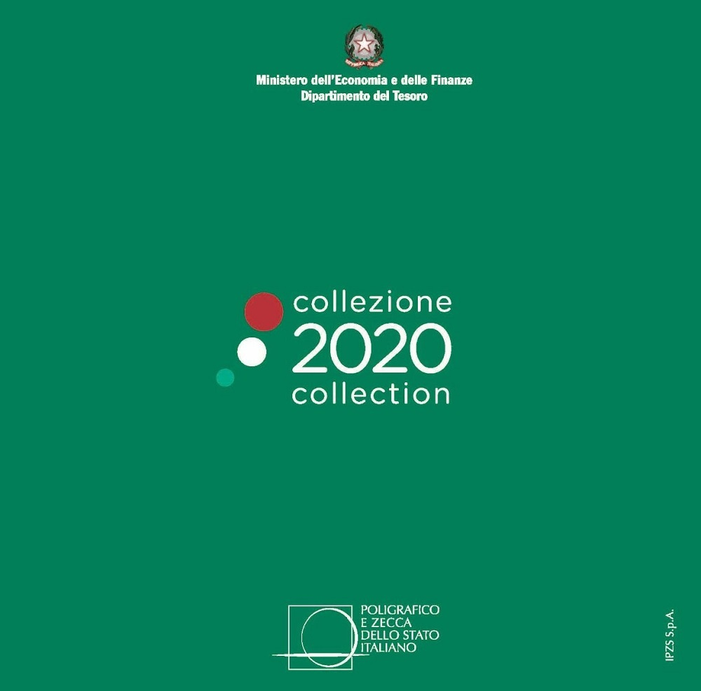 (EUR10.CofBU&FDC.2020.Cof-BU) Brilliant Uncirculated coin set Italy 2020 Front (zoom)
