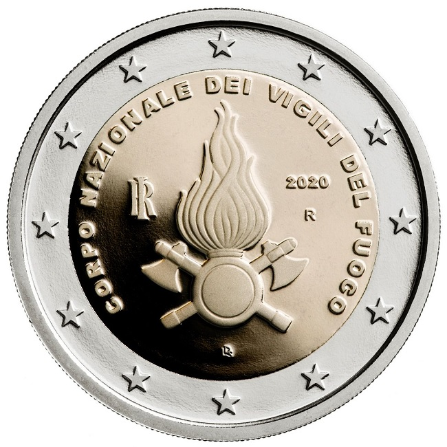 (EUR10.ComBU&BE.2020.200.BE.48-2MS10-20P005) 2 euro Italy 2020 Proof - National Fire Corps Obverse (zoom)