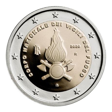 (EUR10.ComBU&BE.2020.200.BE.48-2MS10-20P005) 2 euro commémorative Italie 2020 BE - Pompiers Avers
